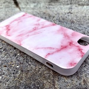 Flexible Marble iPhone 7 or 7+ Skin Case in Pink